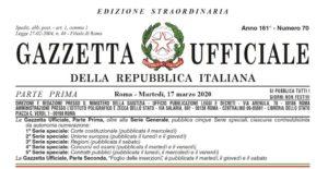"""I contributi di sostegno nell'ultimo decreto """"Cura italia"""""""
